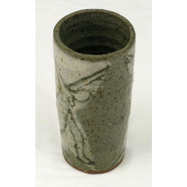 Rustic Bernard Chaet (American, 1924-2012) Studio Pottery Vase For Sale - Image 3 of 4