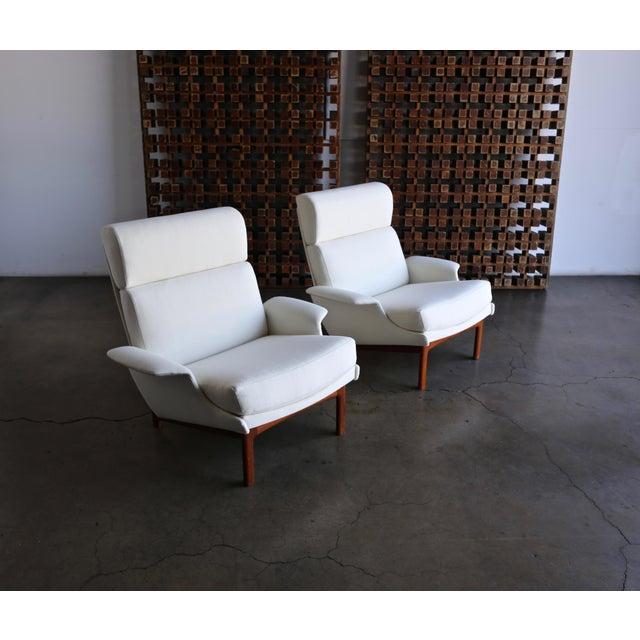 "Mogens Kold Møbelfabrik Ib Kofod-Larsen ""Adam"" Lounge Chairs for Mogens Kold Møbelfabrik Circa 1960 - a Pair For Sale - Image 4 of 13"