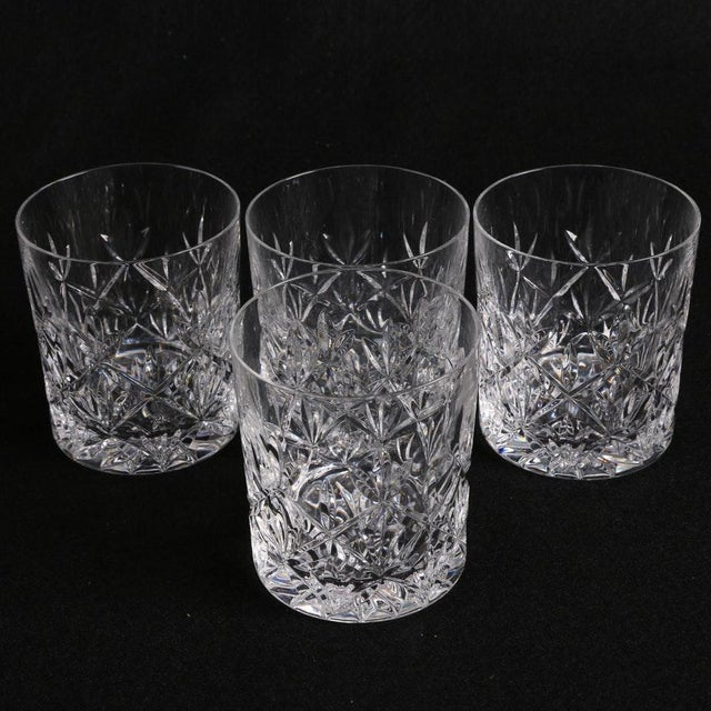 142c73d72504 Transparent Tiffany   Co. Sybil Crystal Double Old Fashioned Glasses - Set  of 4 For