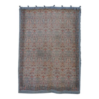 Wool Tapestry Floral Wall Hanging with Fringe Detail
