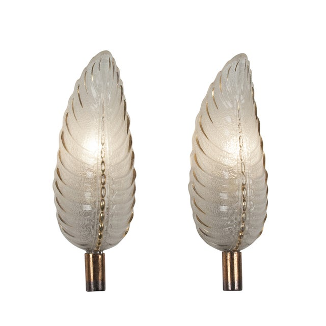 French Ezan Leaf Sconces- A Pair - Image 3 of 8