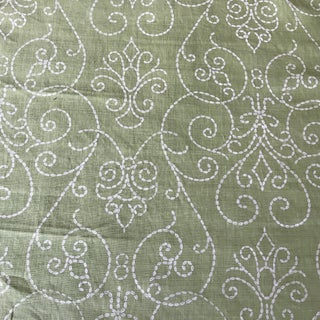 Raoul Textiles Green Linen Fabric 2 1/3 Y