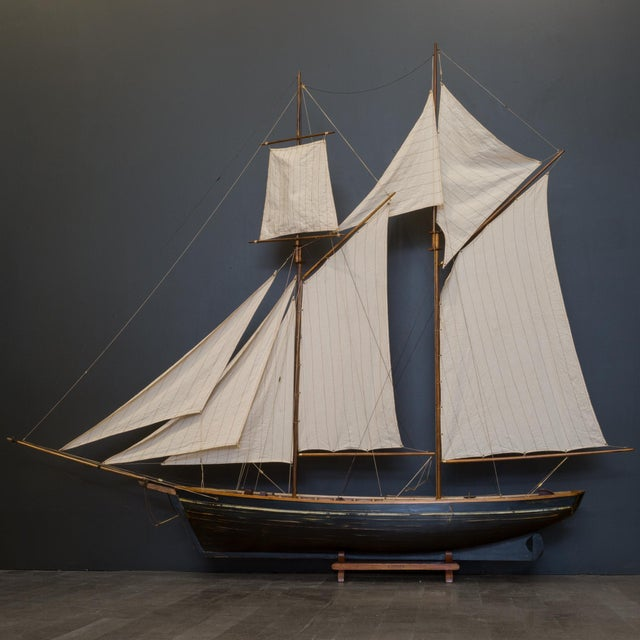 Nautical Early 20th C. Monumental Ship Model C. 1940 For Sale - Image 3 of 12