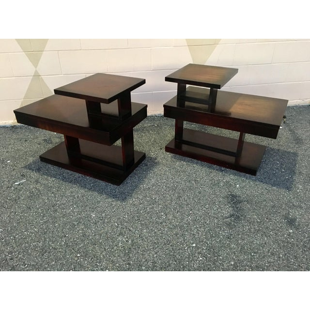 1960s 1960s Mid Century Modern Brutalist Lane Side Tables - a Pair For Sale - Image 5 of 12