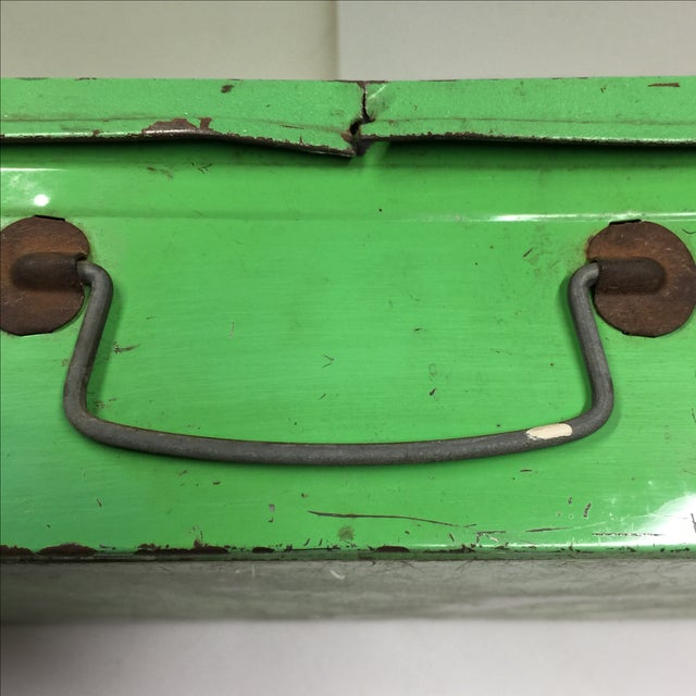 Vintage Handy Andy Green Tool Set Box - Image 7 of 8