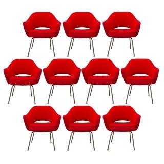 Ten Vintage Eero Saarinen Executive Chairs by Knoll For Sale