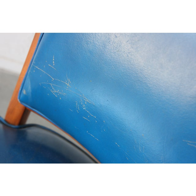 Blue Monteverdi-Young Mid-Century Walnut Chair For Sale - Image 8 of 11