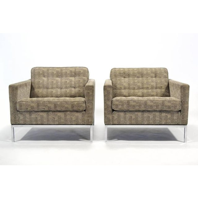 Florence Knoll Tuxedo Lounge Chair, Pair - Image 4 of 8