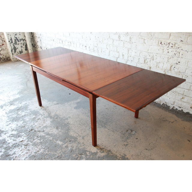1960s Arne Vodder for Sigh & Sons Danish Modern Rosewood Extension Dining Table For Sale - Image 5 of 10