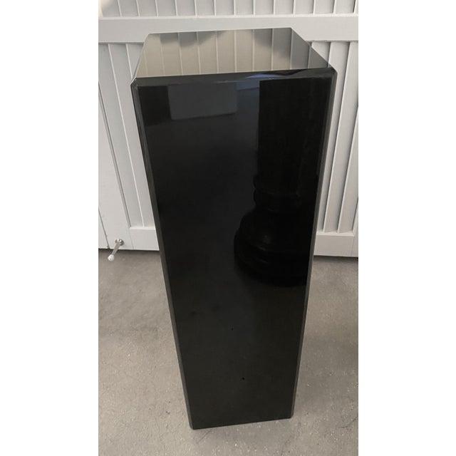 """Vintage Pedestal Black Lucite 26.5"""" High For Sale - Image 4 of 12"""