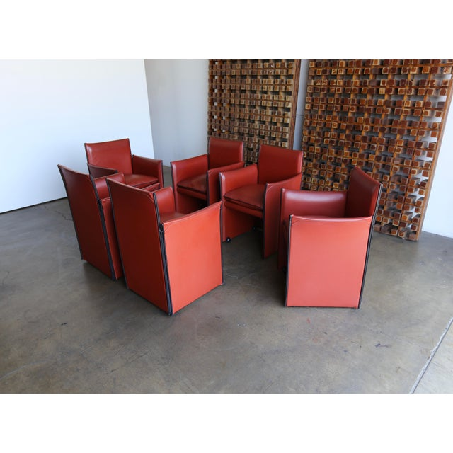 Late 20th Century Mario Bellini 'Break' Armchairs - Set of 6 For Sale - Image 13 of 13