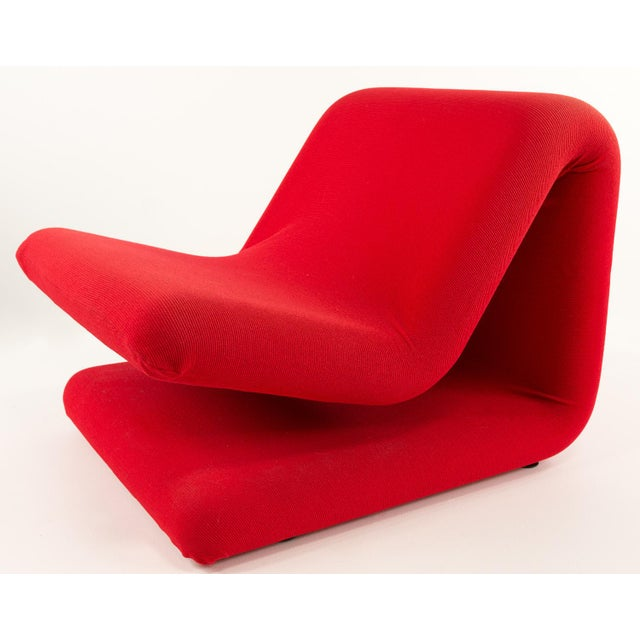 Pierre Paulin Pierre Paulin for Artifort Style Mid-Century Modern French Chair For Sale - Image 4 of 8