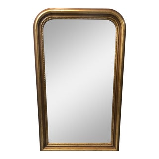 Louis Philippe Style Wood Frame Gilt Mirror For Sale