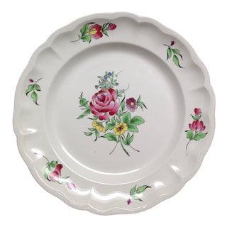 """Luneville """"Old Strasbourg"""" Floral Ceramic Platter For Sale"""