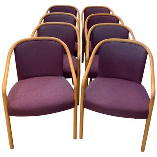 8 Dining Chairs by Brickel Associates for Arthur Elrod in Plum For Sale