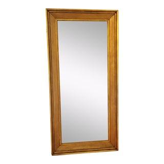 Antique Gilded Floor Mirror For Sale
