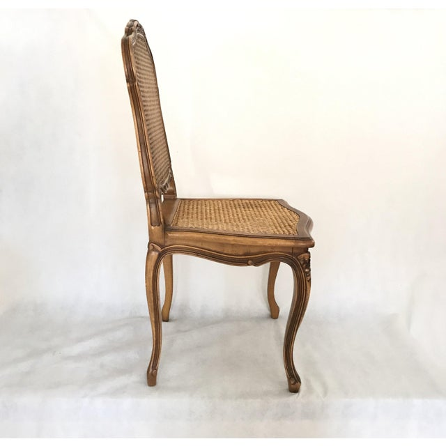Brown Classic Antique Set of 6 Louis XV Carved Walnut & Caned Dining Chairs For Sale - Image 8 of 13