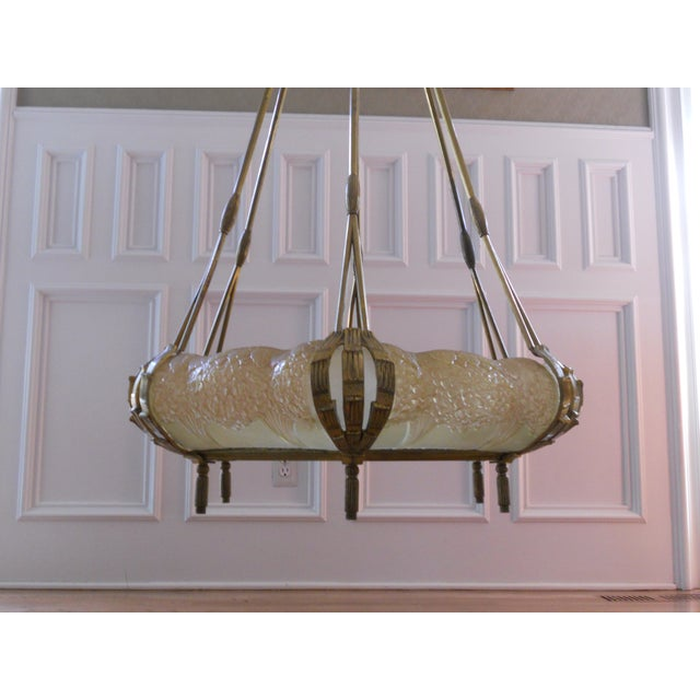 Mueller Gilded Bronze Mounted Chandelier - Image 2 of 6