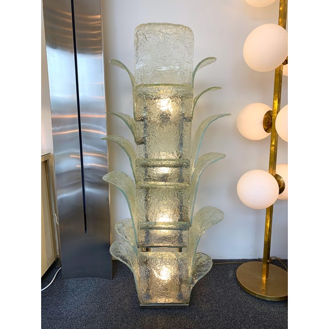 Hollywood Regency Floor Lamp Cactus Lt 320 by Carlo Nason for Mazzega Murano, 1970s For Sale - Image 3 of 10