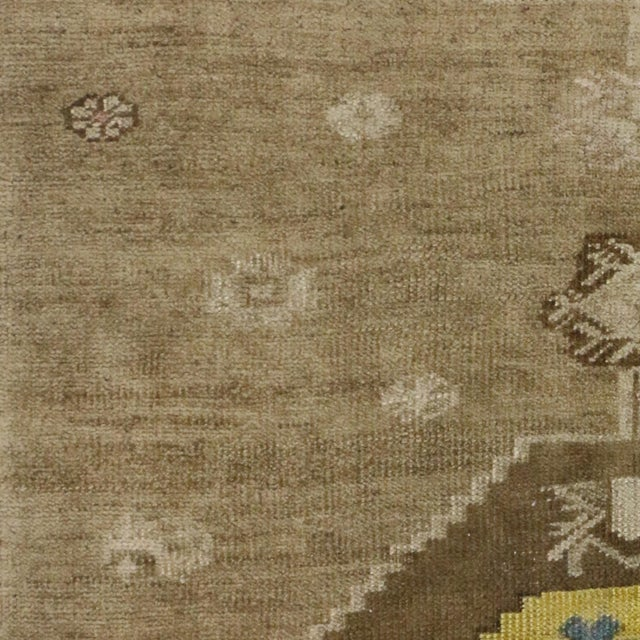 Vintage Turkish Oushak Runner with Modern Contemporary Style, 3'11 x 4'4 For Sale - Image 5 of 7
