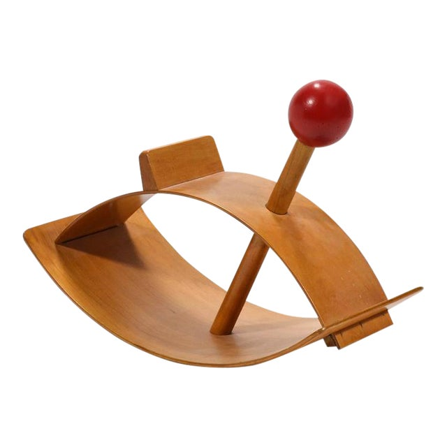 """Designed in 1964 by Gloria Caranica for Creative Playthings, the """"Rocking Beauty"""" hobby horse is a perfect synthesis of..."""