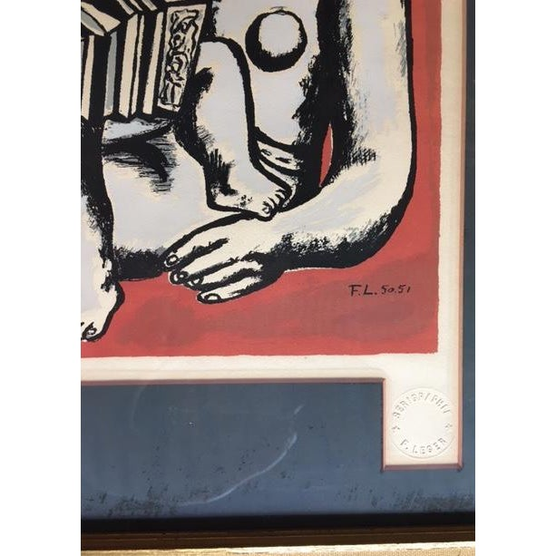 Figurative 'The Three Sisters on Red' Seriograph For Sale - Image 3 of 8