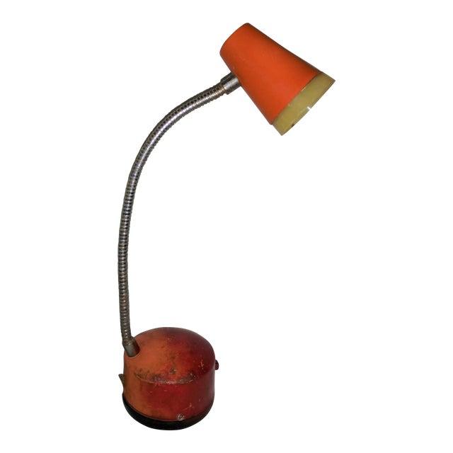 Industrial Mini Orange Work Lamp For Sale