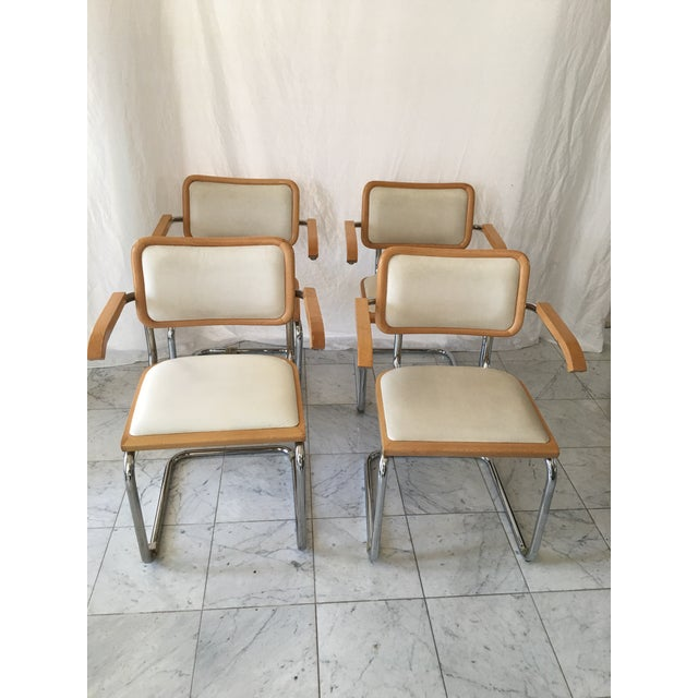 Italian Italian Chrome Cantilever Chairs - Set of 4 For Sale - Image 3 of 10