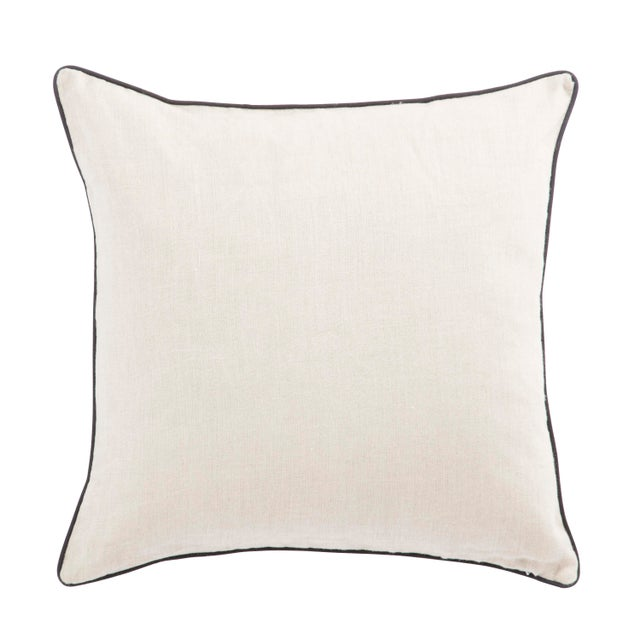 This Nikki Chu throw pillow features a sophisticated mid-century modern pattern, embroidered on a soft linen backdrop....