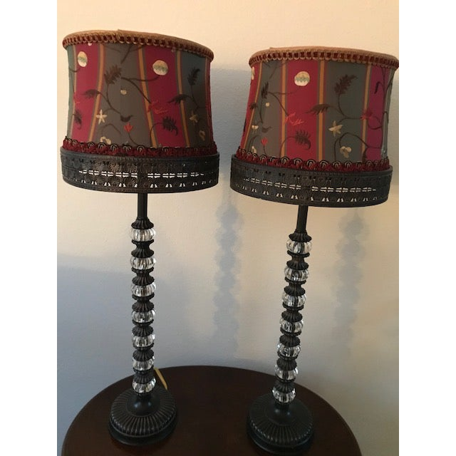 Carnival Tyndale Buffet Lamps - a Pair For Sale - Image 3 of 4