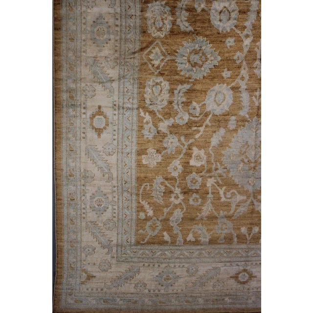 Aara Rugs Inc. Hand Knotted Fine Oushak Rug - 12′8″ × 15′10″ For Sale - Image 4 of 4