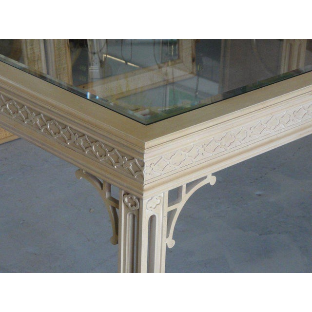 Hollywood Regency Fretwork Dining Table - Image 2 of 11