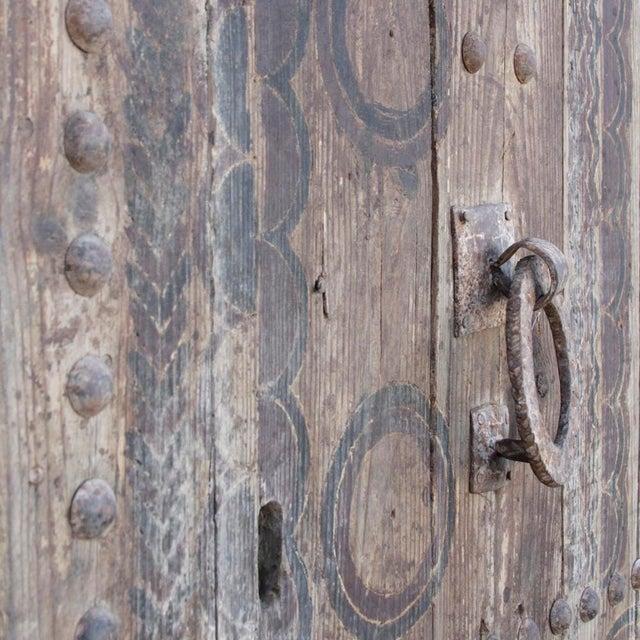 19th Century Tribal Cedar Door For Sale - Image 5 of 8