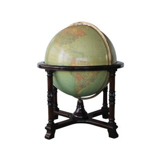 "Vintage Replogle 32"" Glass Library Globe For Sale"