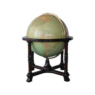 """Vintage Replogle 32"""" Glass Library Globe"""