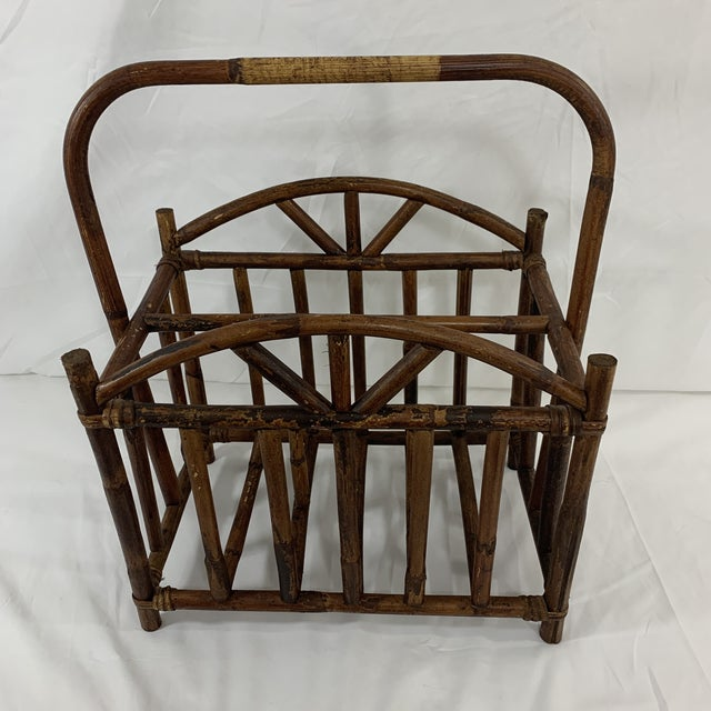 English Bamboo Magazine Rack Ca 1900-1920 For Sale - Image 6 of 9