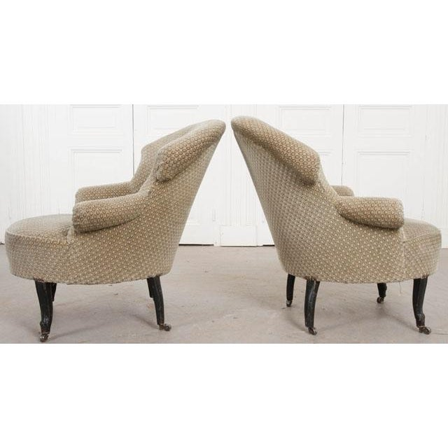Pair of 19th Century English Upholstered Tub Chairs For Sale - Image 11 of 13