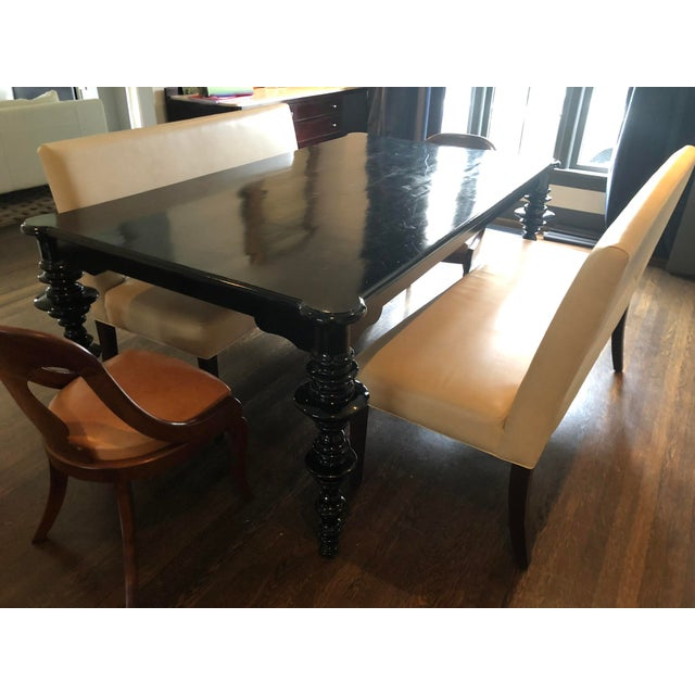 Mediterranean Noir Ferret Dining Table For Sale - Image 11 of 13