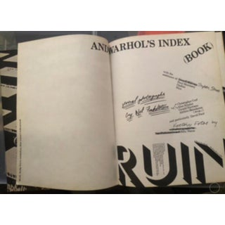 """Andy Warhol """"Andy Warhol's Index"""" 1st Edition, Softcover Pop-Up Book Preview"""