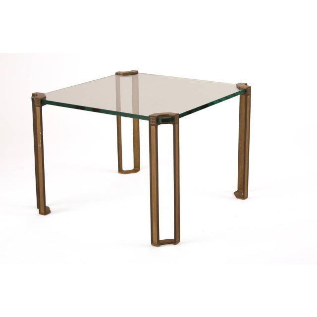 Bronze and Glass Table by Peter Ghyczy For Sale In Phoenix - Image 6 of 7