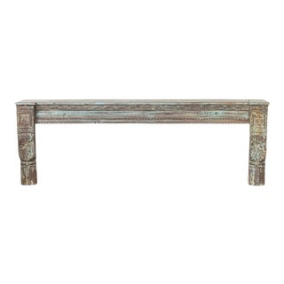 Vintage Indian Wooden Console With Carvings For Sale