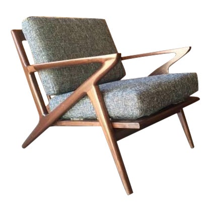 Mid Century Custom Selig Style Z Chair For Sale