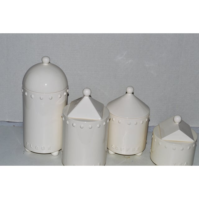Swid Powell Tigerman McCurry Ceramic Canisters - Set of 4 - Image 3 of 9