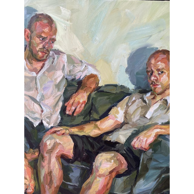 "Contemporary Oil Painting by Paul Wright, ""Double Self Portrait"" For Sale In Los Angeles - Image 6 of 9"