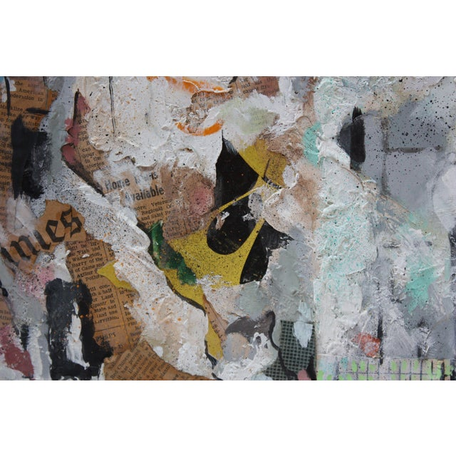 Beige Ralph De Burgos Mixed-Media Abstract Collage For Sale - Image 8 of 12