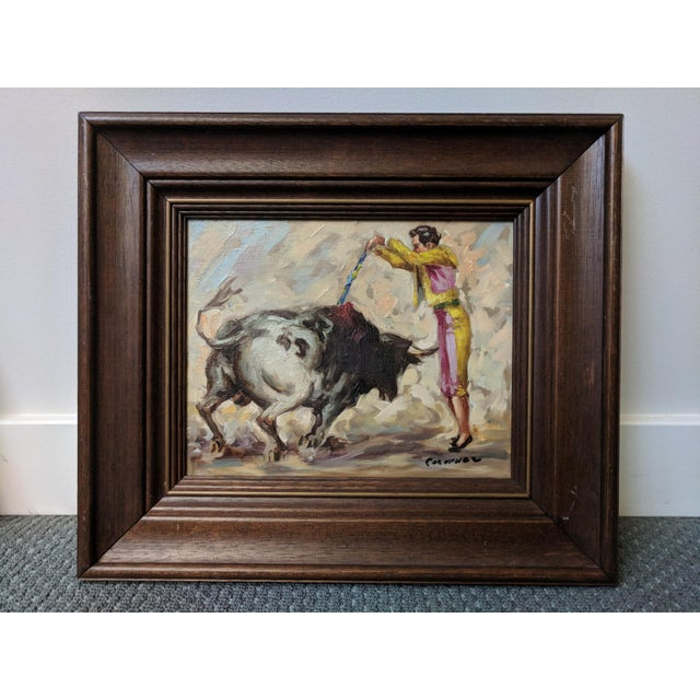 Mid-Century Spanish Bull Fighter Torero Oil Paintings - a Pair - Image 2 of 7