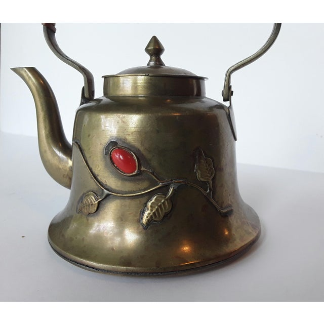 Vintage Chinese Brass Teapot For Sale - Image 5 of 5