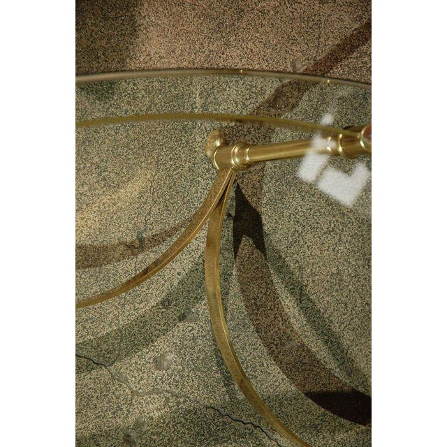 Polished Brass and Glass Octagonal Coffee Table, La Barge For Sale In Los Angeles - Image 6 of 9