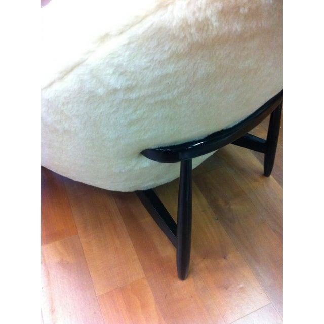 1950s Theo Ruth for Artifort, 1950s Chairs, Newly Reupholstered in Wool Faux Fur For Sale - Image 5 of 6