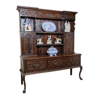 Carved oak dresser For Sale